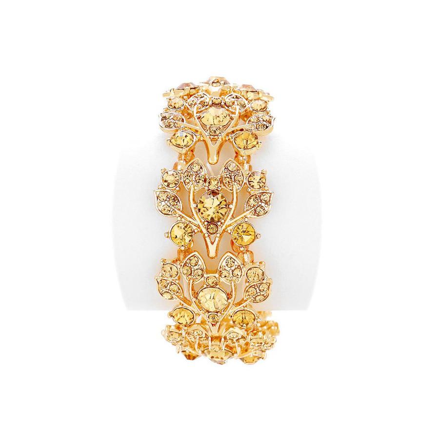 Stunning Gold-On-Gold Crystal Bracelet