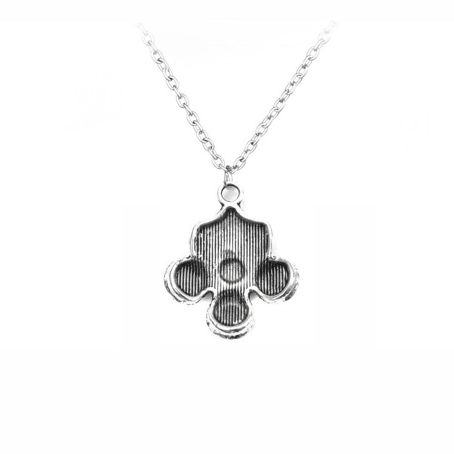 Antiqued Silver Gas Mask Steampunk Necklace