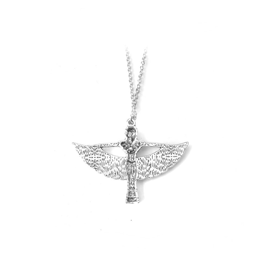 Silver Winged Isis Egyptian Necklace