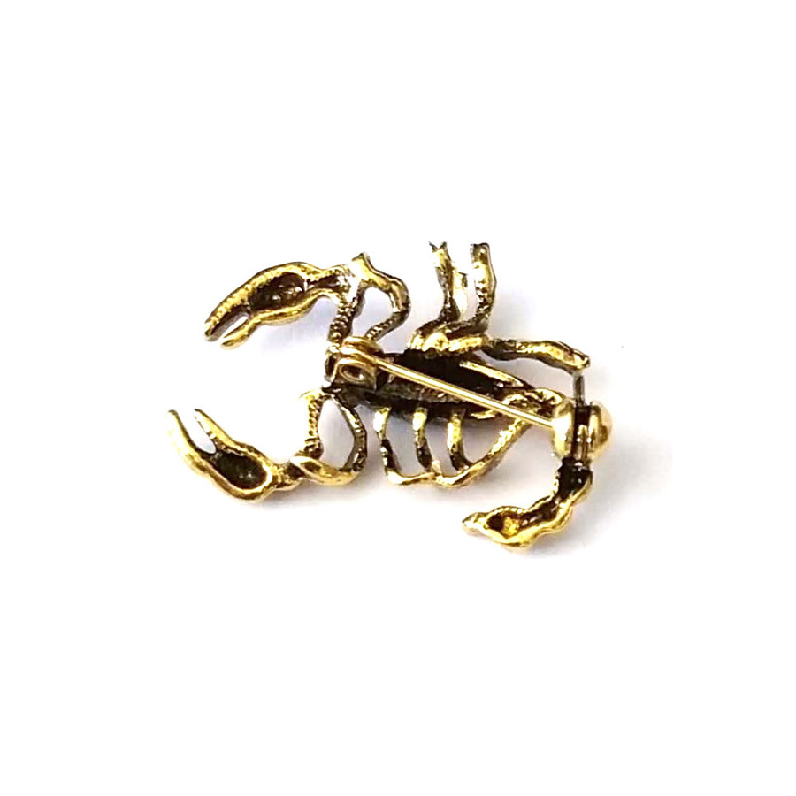 Antiqued Golden Scorpion Pin
