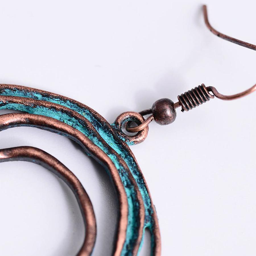 Patina Circles Drop Earrings