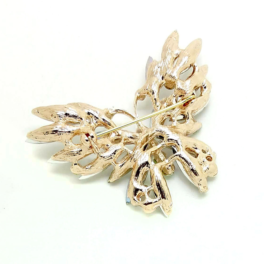 Violet Marquis Crystal Butterfly Pin