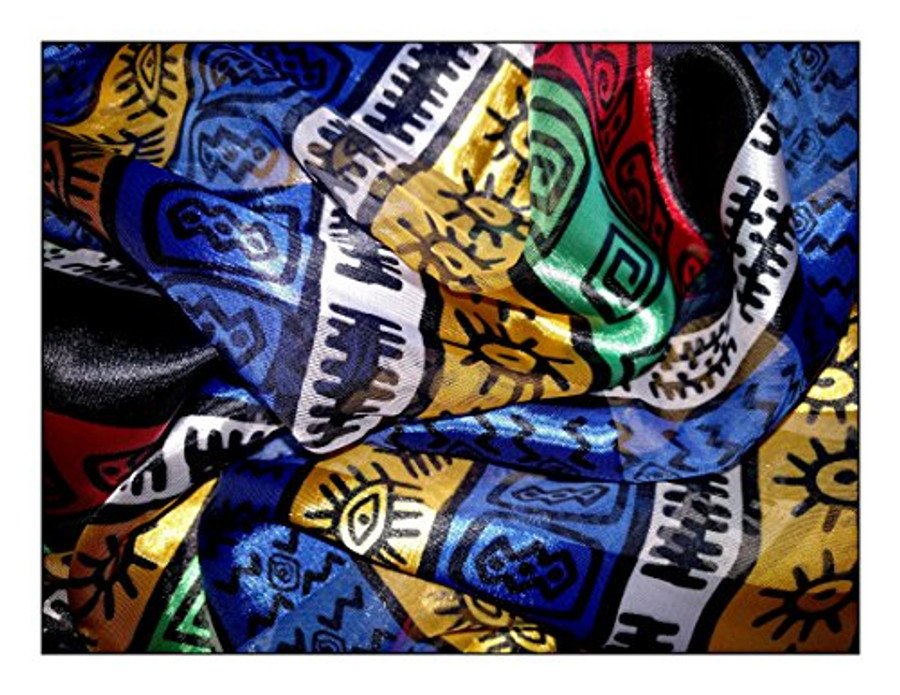 """Symbols & Glyphs"" Large Lightweight Square Silk-Feel Scarf"