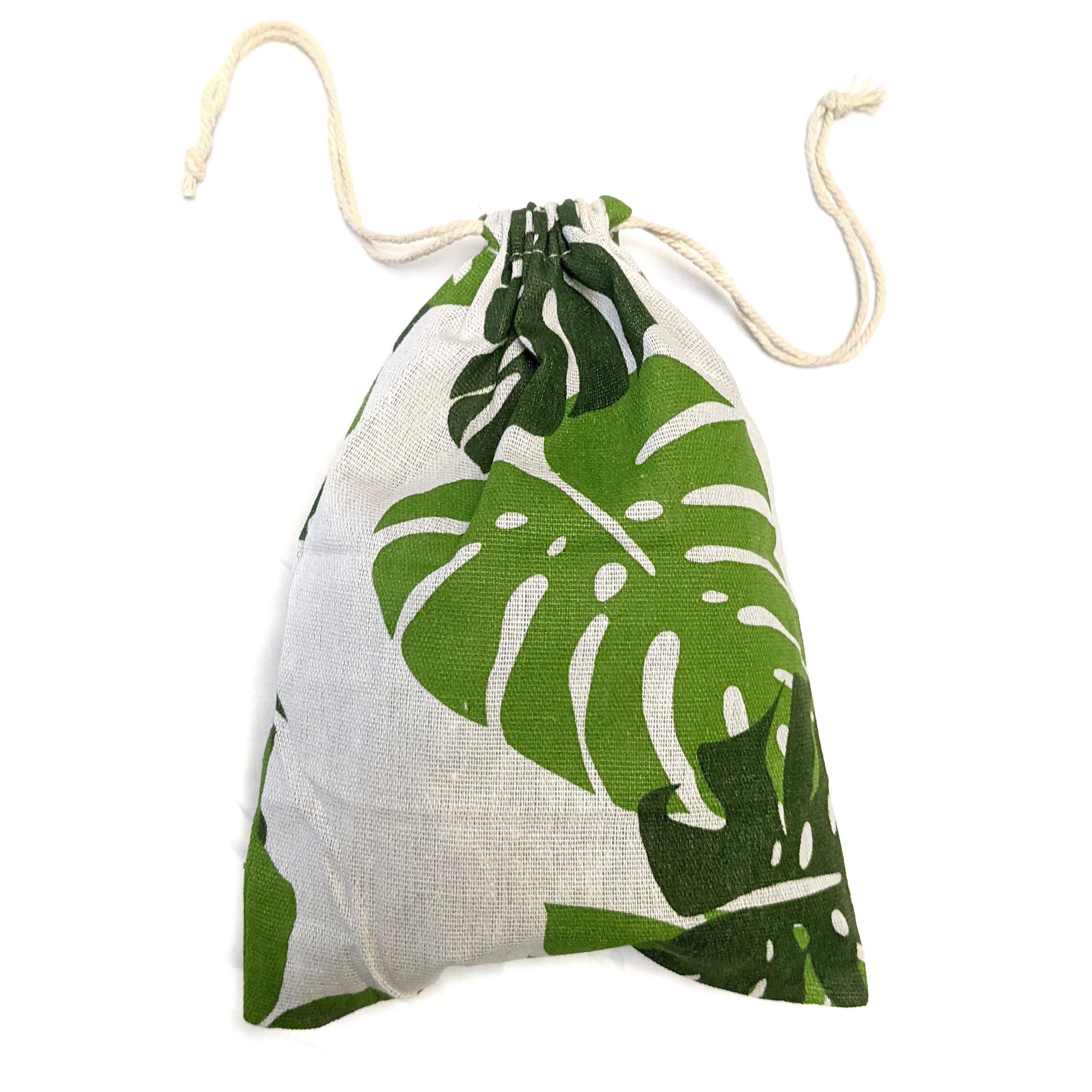 Monstera Canvas Gift Bag