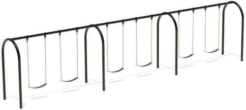"3.5"" Arch Swing Frame 8ft- 3 Bay"
