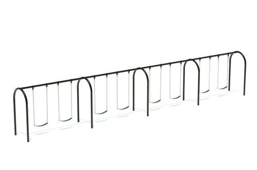 "3.5"" Arch Swing Frame 8ft- 4 Bay"