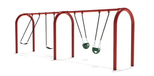 "5"" Arch Swing Frame 8ft- 2 Bay"