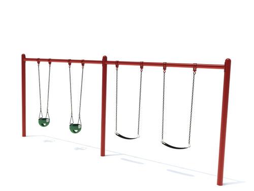 """5"""" Single Post Swing Frame 8ft- 2 Bay"""