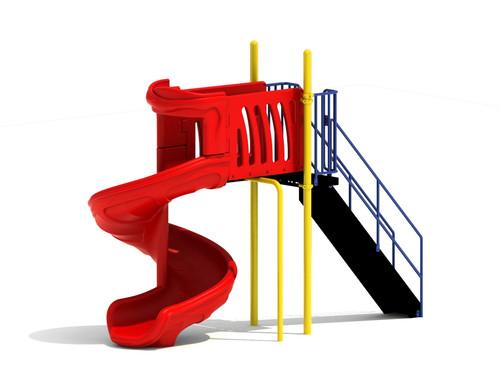 6' Free Standing Spiral Slide