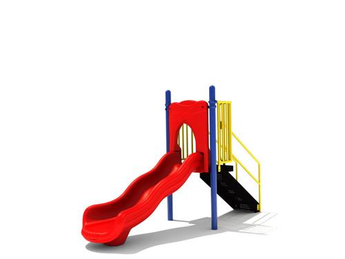 3' Free Standing Single Wave Slide