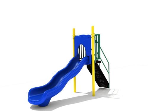 4' Free Standing Single Wave Slide