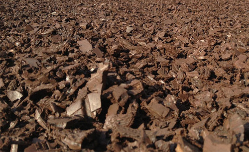 Rubber mulch for playground safety surface