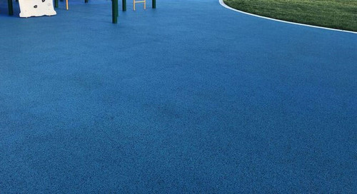 Poured in place playground surface