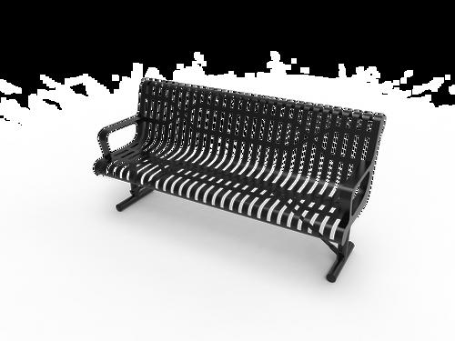 elite contoured park bench
