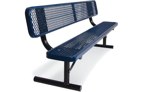 6' park bench.  expanded metal