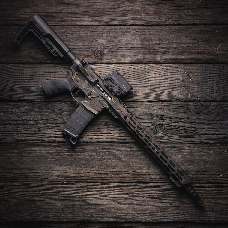 Billet machined AR-15 rifle. Lightweight with superior quality. Cool AR-15.