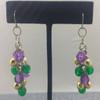Mardi Gras Cluster Earrings