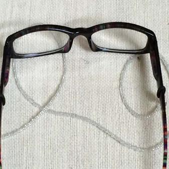 Transparent Seed Bead Eyeglass Strap