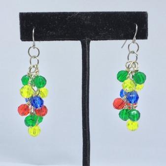 Autism Awareness Cluster Earrings