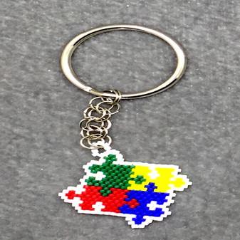 Autism Awareness Keychain