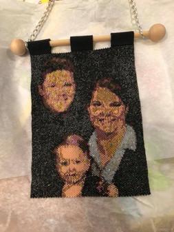 Custom Beaded Photo/Tapestry