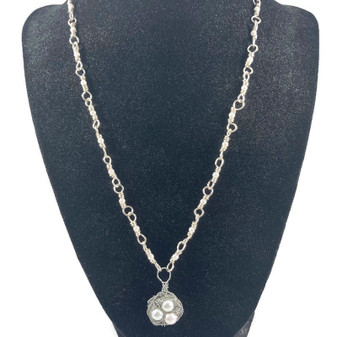 Silver Plated Nest Necklace