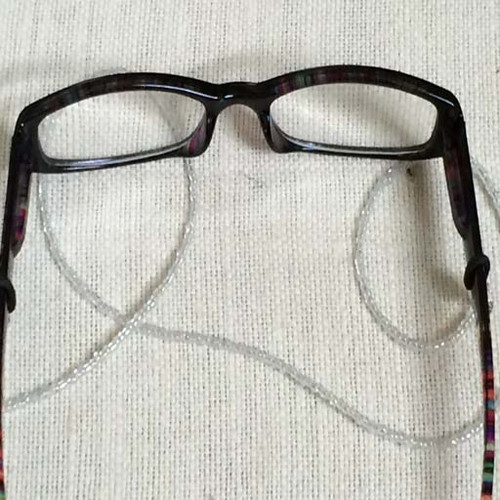 Transparent Seed Bead Eyeglass Strap
