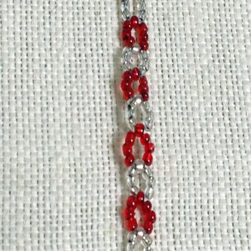 Weaved Transparent Candy Cane Bracelet
