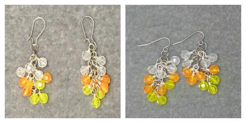 Candy Corn Cluster Earrings