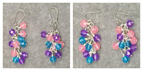 Sweetheart Cluster Earrings