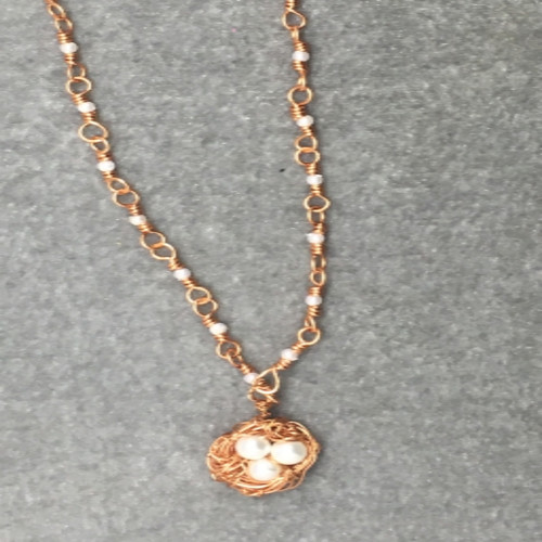 Copper Nest Necklace