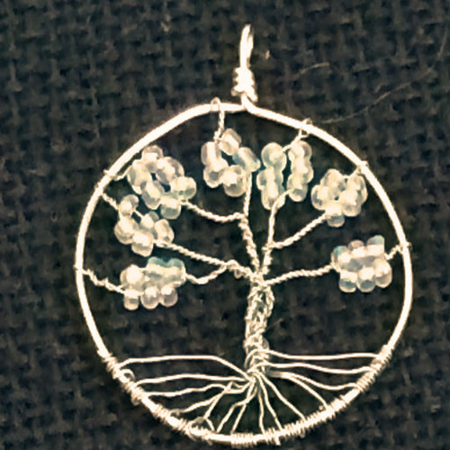 Iridescent Clear Tree of Life Necklace