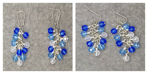 Snow day Cluster Earrings