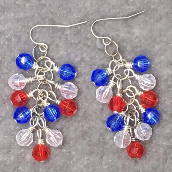 Patriotic Cluster Earrings