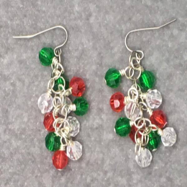 Christmas Cluster Earrings