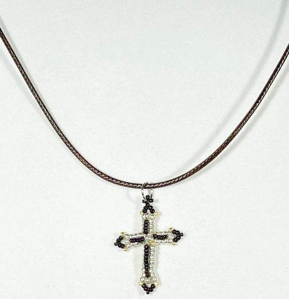 Small Cross with adjustable necklace