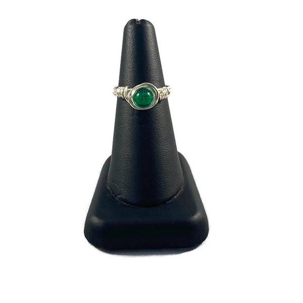 Simple Glass Solitaire Ring