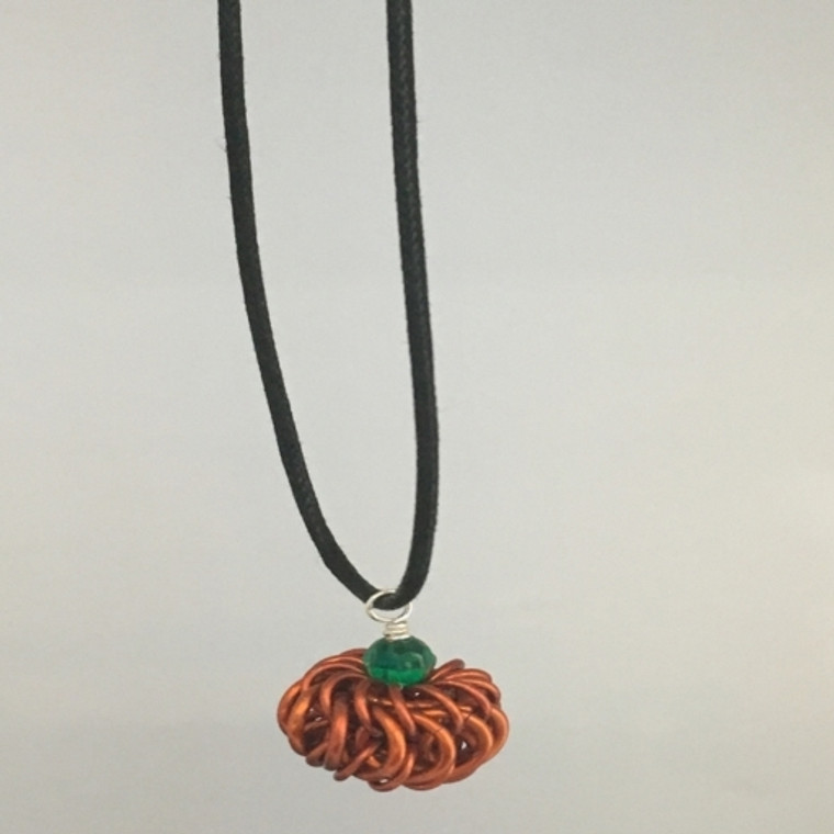 Simple Chainmaille Pumpkin Necklace