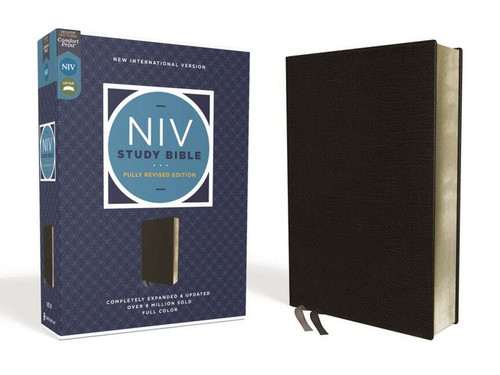 NIV Study Bible, Fully Revised Edition, Black Bonded Leather