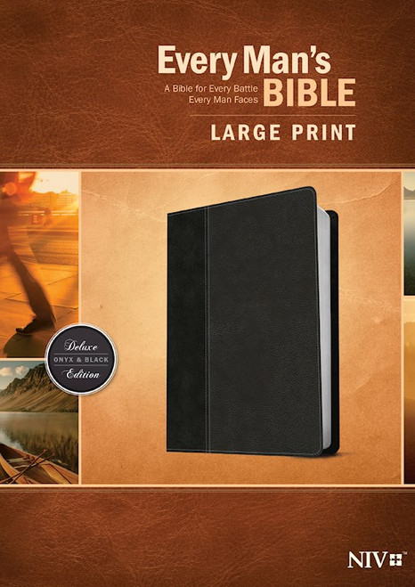 NIV Every Man's Bible, Large Print, Onyx/Black LeatherLike