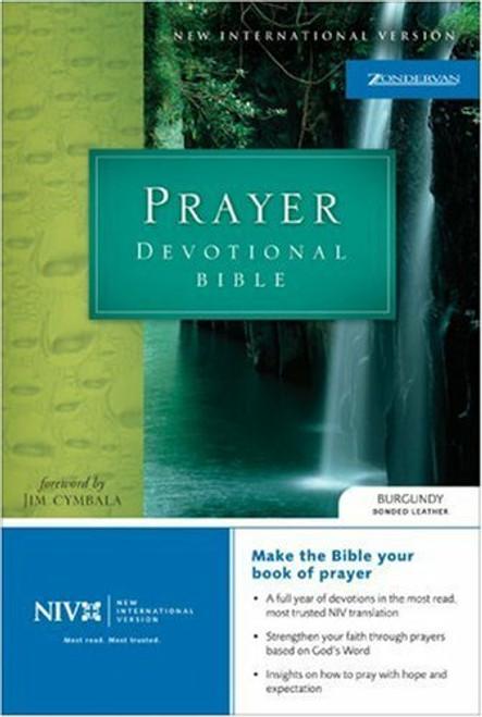 1984 NIV Prayer Devotional Bible, Burgundy Bonded Leather