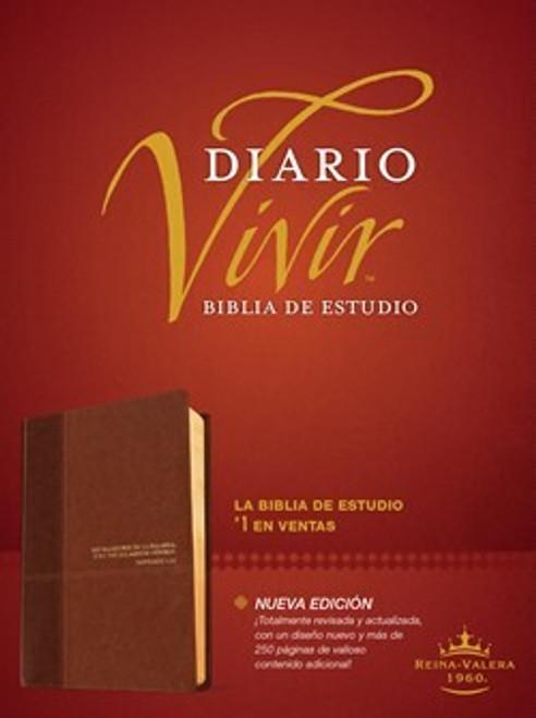 RVR 1960 Biblia de estudio del diario vivir, Café/café claro SentiPiel Con Indice