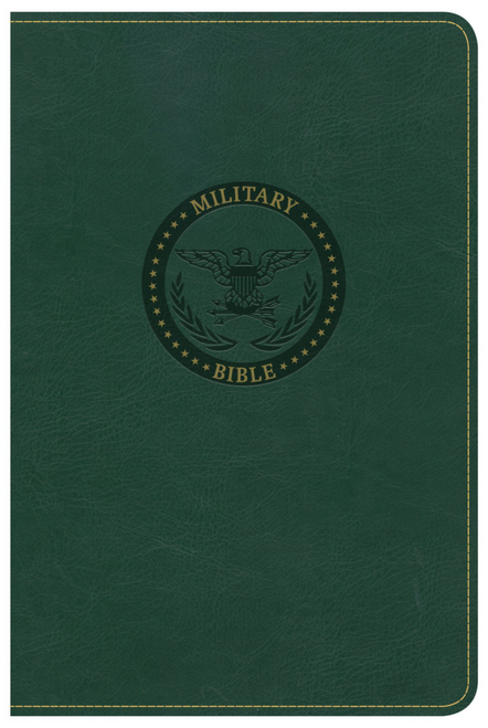 CSB Military Bible, Green LeatherTouch (for Soldiers)