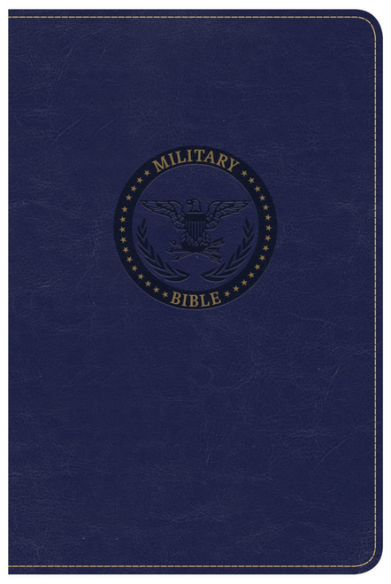 CSB Military Bible, Royal Blue LeatherTouch (for Airmen)