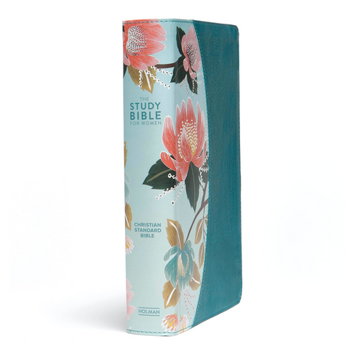 CSB Study Bible for Women, Teal Flowers LeatherTouch