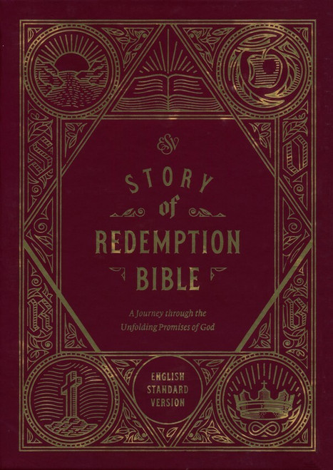 ESV Story of Redemption Bible, Burgundy/Cherry Timeless TruTone