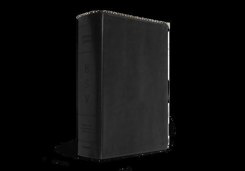 ESV Study Bible Large Print, Black TruTone