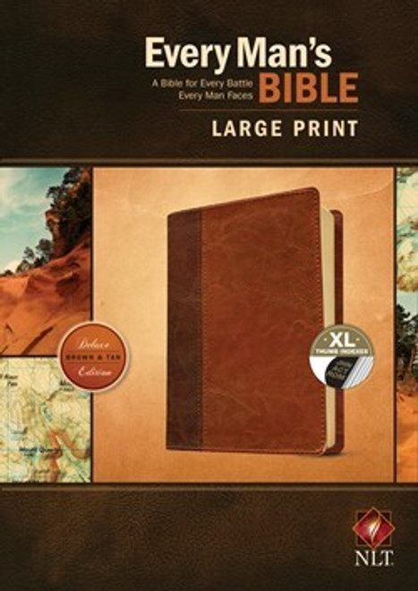 NLT Every Man's Bible, Large Print, Tan Leatherlike, Indexed