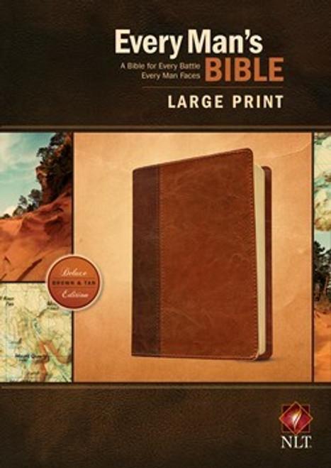 NLT Every Man's Bible, Large Print, Brown/Tan LeatherLike