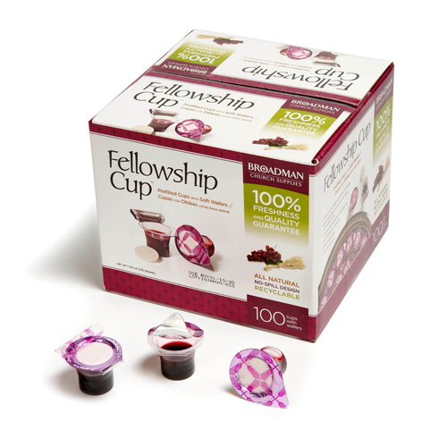 Fellowship Cup ® – prefilled communion cups – juice and wafer – 100 Count Box